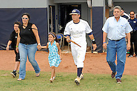16 May 2010:  FIU's Junior Arrojo and family make their way onto the field prior to the game as FIU honored its seniors.  The FIU Golden Panthers defeated the University of South Alabama Jaguars, 5-0, at University Park Stadium in Miami, Florida.
