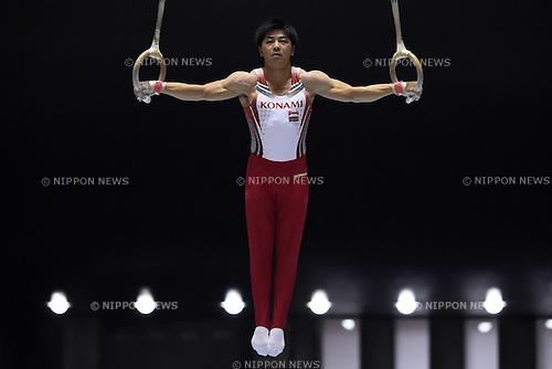 Koji Yamamuro, JUNE 21, 2015 - Artistic Gymnastics : The 69th All Japan Artistic Gymnastics Apparatus Championship, Men's Rings Final at 1st Yoyogi Gymnasium, Tokyo, Japan. (Photo by AFLO SPORT)