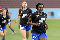 Houston, TX - Wednesday June 28, 2017: Ifeoma Onumonu warming up during a regular season National Women's Soccer League (NWSL) match between the Houston Dash and the Boston Breakers at BBVA Compass Stadium.