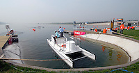 Beijing, CHINA, Parking bay for umpires launch at the start pontoon 2007. FISA Junior World Rowing Championships Shunyi Water Sports Complex. Wed. 08.08.2007  [Photo, Peter Spurrier/Intersport-images]..... , Rowing Course, Shun Yi Water Complex, Beijing, CHINA,