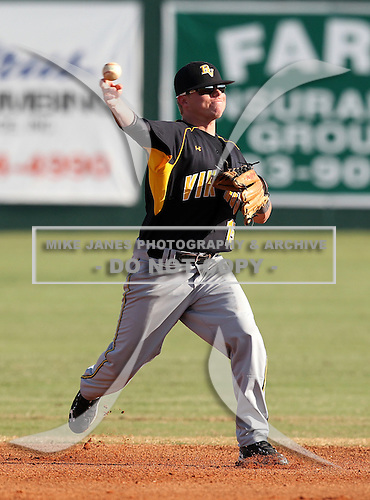 Zach Haefeli of the Bishop Verot Vikings varsity baseball team against the Dunnellon Tigers during the Sarasota Classic on March 14, 2011 in Sarasota, Florida.  (Copyright Mike Janes Photography)
