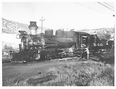 3/4 fireman's side view of D&amp;RGW #478 in Durango yard.  Phony diamond stack is in place.<br /> D&amp;RGW  Durango, CO