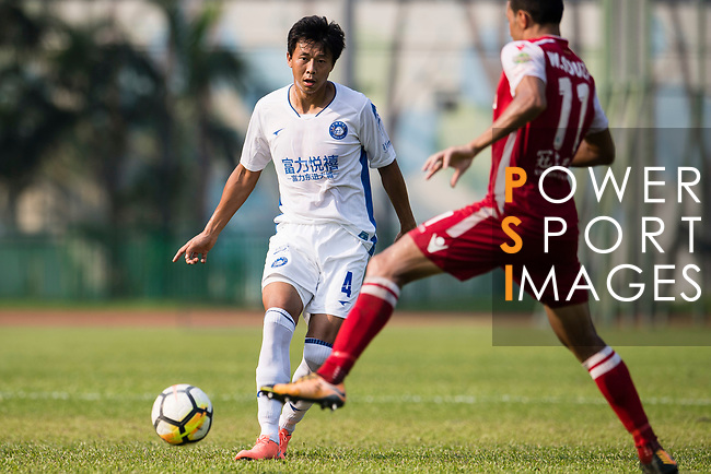 Zhao Ming of R&F F.C in action during the week three Premier League match between Kwoon Chung Southern and R&F at Aberdeen Sports Ground on September 16, 2017 in Hong Kong, China. Photo by Marcio Rodrigo Machado / Power Sport Images