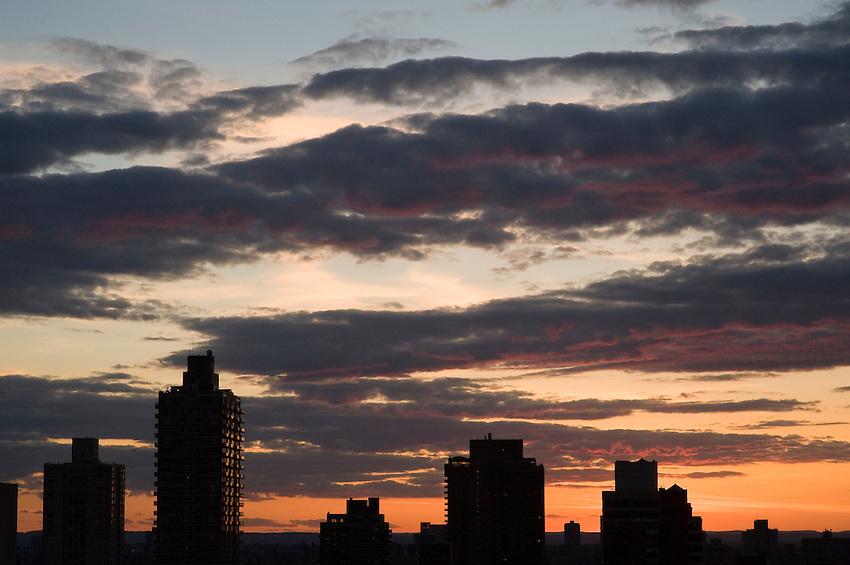 Upper West Side sunset.