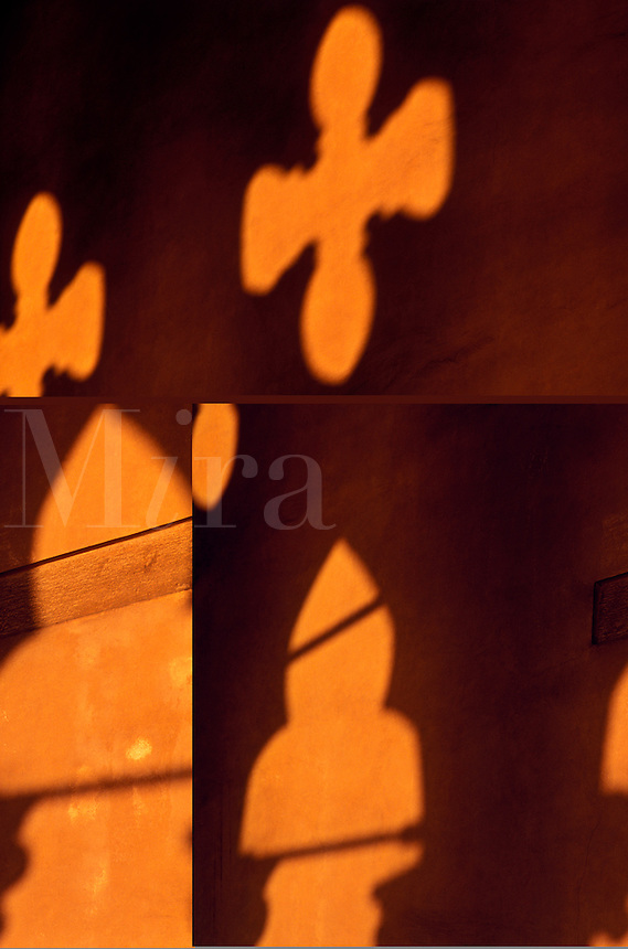 Italy, Venice. The Doge's Palace, shadows cast arches