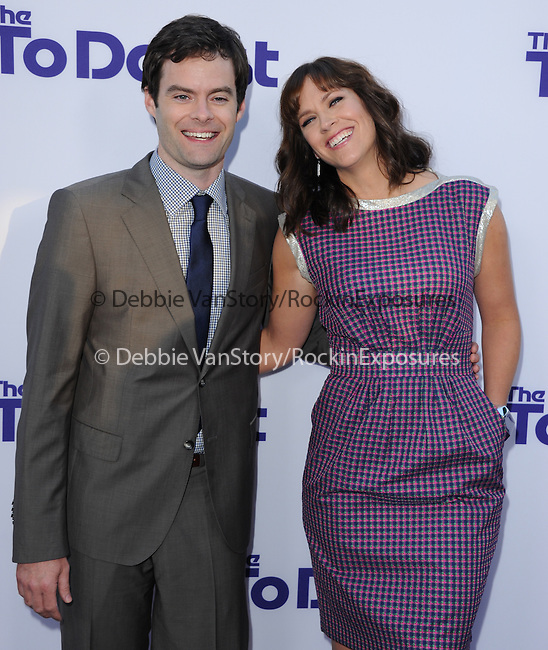 Bill Hader and Maggie Carey <br /> <br />  at The CBS Films L.A. Premiere of The To Do List held at The Regency Bruin Theatre in Westwood, California on July 23,2013                                                                   Copyright 2013 Hollywood Press Agency