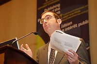 April 25, 2006 Montreal (QC) CANADA<br /> <br /> <br /> Alexander Macgillivray, Senior Product and Intellectual Property Counsel, Google /  Conseiller Juridique Pricipal GOOGLE<br /> 6e Symposium international sur le droit d'auteur de l'Union internationale des Èditeurs 23 - 25 avril 2006 , MontrÈal.<br /> Photo : Delphine Descamps - (c) 2006 Images Distribution
