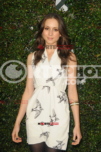 Troian Bellisario at the ABC Family West Coast Upfronts party at The Sayers Club on May 1, 2012 in Hollywood, California. © mpi35/MediaPunch Inc.