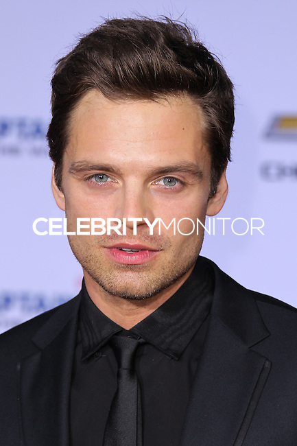 "HOLLYWOOD, LOS ANGELES, CA, USA - MARCH 13: Sebastian Stan at the World Premiere Of Marvel's ""Captain America: The Winter Soldier"" held at the El Capitan Theatre on March 13, 2014 in Hollywood, Los Angeles, California, United States. (Photo by Xavier Collin/Celebrity Monitor)"