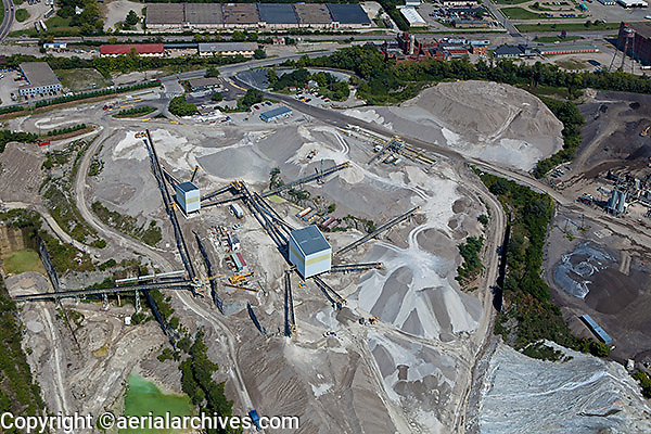 aerial photograph rock quarry Lexington, Kentucky