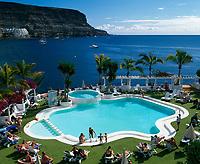 Spanien, Kanarische Inseln, Gran Canaria, Puerto de Mogan: Hotel Club de Mar, Pool | Spain, Canary Island, Gran Canaria, Puerto de Mogan: Hotel Club de Mar, Pool