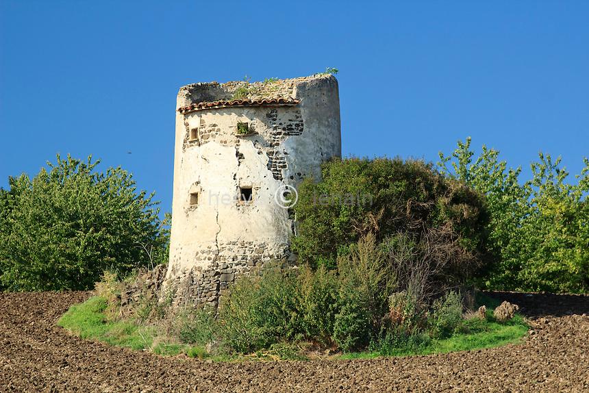 France, Puy-de-Dôme (63), Saint-Sandoux, pigeonnier au milieux d'un champ // France, Puy de Dome, St Sandoux, dovecote in a field