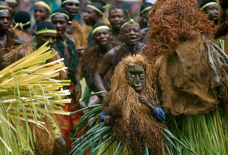 Tribal dancers at a festival in Cameroon, Africa