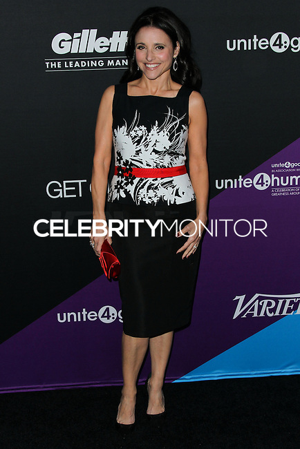 CULVER CITY, LOS ANGELES, CA, USA - FEBRUARY 27: Julia Louis-Dreyfus at the 1st Annual unite4:humanity Presented by unite4:good and Variety held at Sony Pictures Studios on February 27, 2014 in Culver City, Los Angeles, California, United States. (Photo by Xavier Collin/Celebrity Monitor)