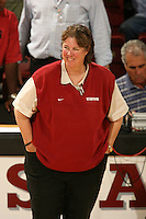7 September 2007: Stanford Cardinal associate head coach Denise Corlett during Stanford's 30-20, 30-18, 30-28 win in the Stanford Invitational against the Cal Poly Mustangs at Maples Pavilion in Stanford, CA.