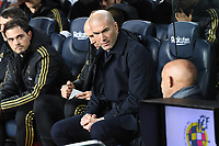 Zinedine Zidane <br /> <br /> 18/12/2019 <br /> Barcelona - Real Madrid<br /> Calcio La Liga 2019/2020 <br /> Photo Paco Largo Panoramic/insidefoto <br /> ITALY ONLY