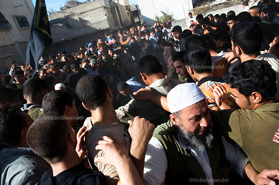 2010 December 3 - Jabalya - Gaza.<br /> Funeral of Islamic Jihad militant, Jalal Nasser, in Jabalya refugee camp. Nasser was one of the two militants, killed along the Gaza-Israel border fence, by the Israeli army the day before.