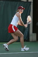 STANFORD, CA - JANUARY 30:  Lindsay Burdette of the Stanford Cardinal during Stanford's 6-1 win over the Colorado Buffaloes in the ITA Indoor Qualifying on January 30, 2009 at the Taube Family Tennis Stadium in Stanford, California.