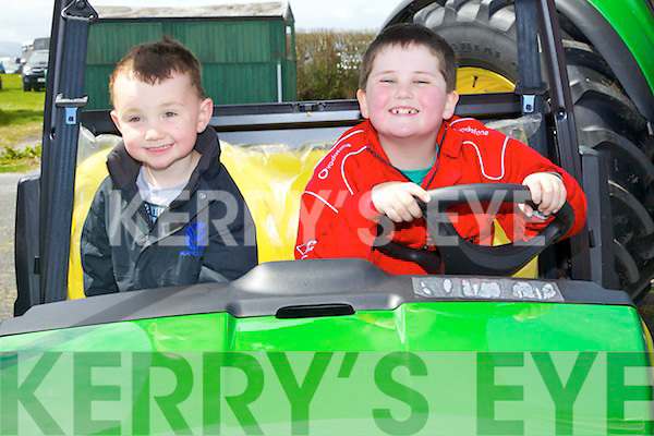 Luke Rowsome (Newcastle West) and Simon O?Sullivan (Barrow) pictured at the Kingdom County Fair on Sunday in Ballybeggan..