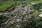 An Aerial view of Westport County Mayo from 1400 feet approx,.as taken by Conor McKeown Photographer on the 8th August 2010,.while on board a hot air balloon ride with Balloonflights.ie...Pic Conor McKeown