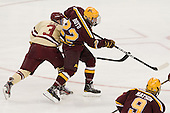 Patch Alber (BC - 3), Travis Boyd (Minnesota - 22) - The Boston College Eagles defeated the University of Minnesota Golden Gophers 6-1 in their 2012 Frozen Four semi-final on Thursday, April 5, 2012, at the Tampa Bay Times Forum in Tampa, Florida.