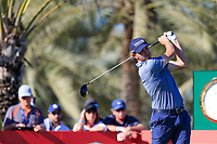 Bernd Wiesberger (AUT) on the 14th tee during the 2nd round of the Abu Dhabi HSBC Championship, Abu Dhabi Golf Club, Abu Dhabi,  United Arab Emirates. 17/01/2020<br /> Picture: Fran Caffrey   Golffile<br /> <br /> <br /> All photo usage must carry mandatory copyright credit (© Golffile   Fran Caffrey)