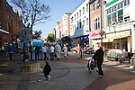 Pedestrianised shopping street, Scarborough, Yorkshire, England