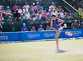 June 18th 2017, Nottingham, England; WTA Aegon Nottingham Open Tennis Tournament day 7 finals day;  Donna Vekic of Croatia serving in the final against Johanna Konta of Great Britain