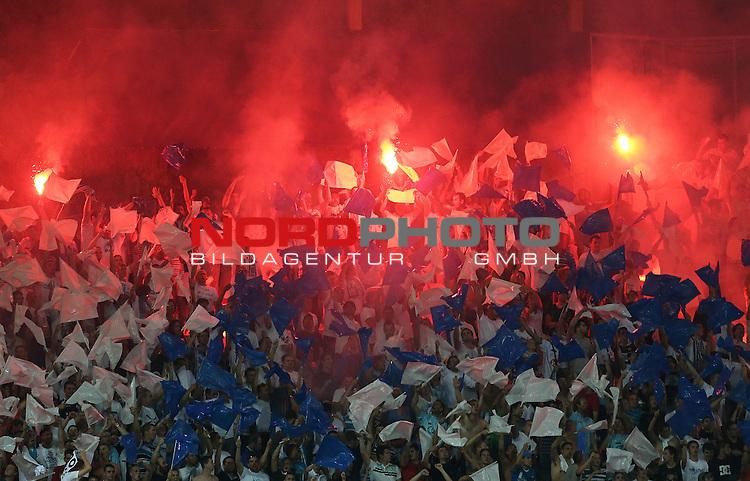 22.08.2013., Stadium Kantrida, Rijeka, Croatia - UEFA European League 4th qualifying round, HNK Rijeka - VfB Stuttgart. Fans. <br /> <br /> Foto &copy;  nph / PIXSELL / Igor Kralj
