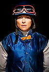 Jockey, Chantall Sutherland before the Vanity Handicap at Betfair Hollywood Park in Inglewood, California on June 16, 2012.