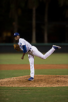AZL Dodgers relief pitcher Jose Hernandez (47) follows through on his delivery during an Arizona League game against the AZL White Sox at Camelback Ranch on July 3, 2018 in Glendale, Arizona. The AZL Dodgers defeated the AZL White Sox by a score of 10-5. (Zachary Lucy/Four Seam Images)