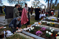 """Allerheiligen (All Saints) at Vienna's """"Zentralfriedhof"""" (""""Central Cemetary""""), the city's biggest graveyard. Annual Orthodox gathering with picknick at the graves."""
