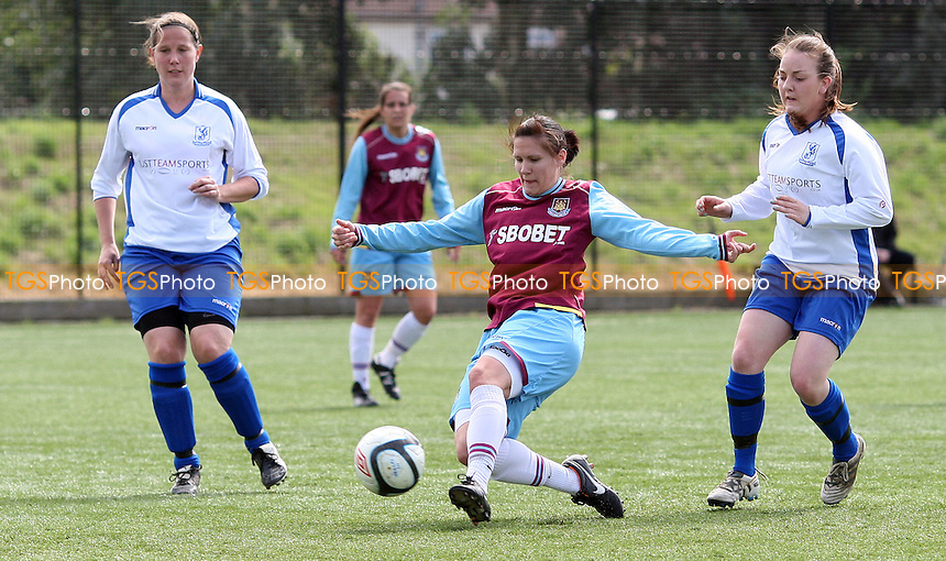 Becky Merritt scores West Ham's 2nd goal - West Ham United Ladies vs Enfield Town Ladies, Pre-season Friendly at Chadwell Heath - 15/07/12 - MANDATORY CREDIT: Rob Newell/TGSPHOTO - Self billing applies where appropriate - 0845 094 6026 - contact@tgsphoto.co.uk - NO UNPAID USE.