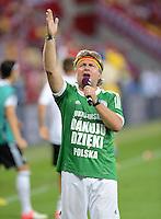 FUSSBALL  EUROPAMEISTERSCHAFT 2012   VORRUNDE Daenemark - Deutschland       17.06.2012 DFB-Stadionsprecher Christian Stoll