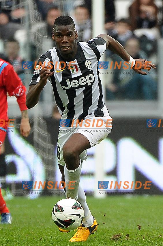 Paul Pogba  Juventus.Torino 10/03/2013 Juventus Stadium.Football Calcio Serie A  2012/13. Juventus vs Catania.Foto Insidefoto Federico Tardito