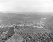 Elevated view of Durango from NW.<br /> Durango, CO