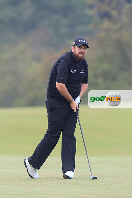 Shane Lowry (IRL) on the 2nd during Round 4 of the KLM Open at Kennemer Golf &amp; Country Club on Sunday 14th September 2014.<br /> Picture:  Thos Caffrey / www.golffile.ie