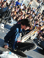 Cole Alexander from Georgia based Garage Punk rockers The Black Lips performs at The Pool Parties Concert Series at McCarren Park , Brooklyn NY
