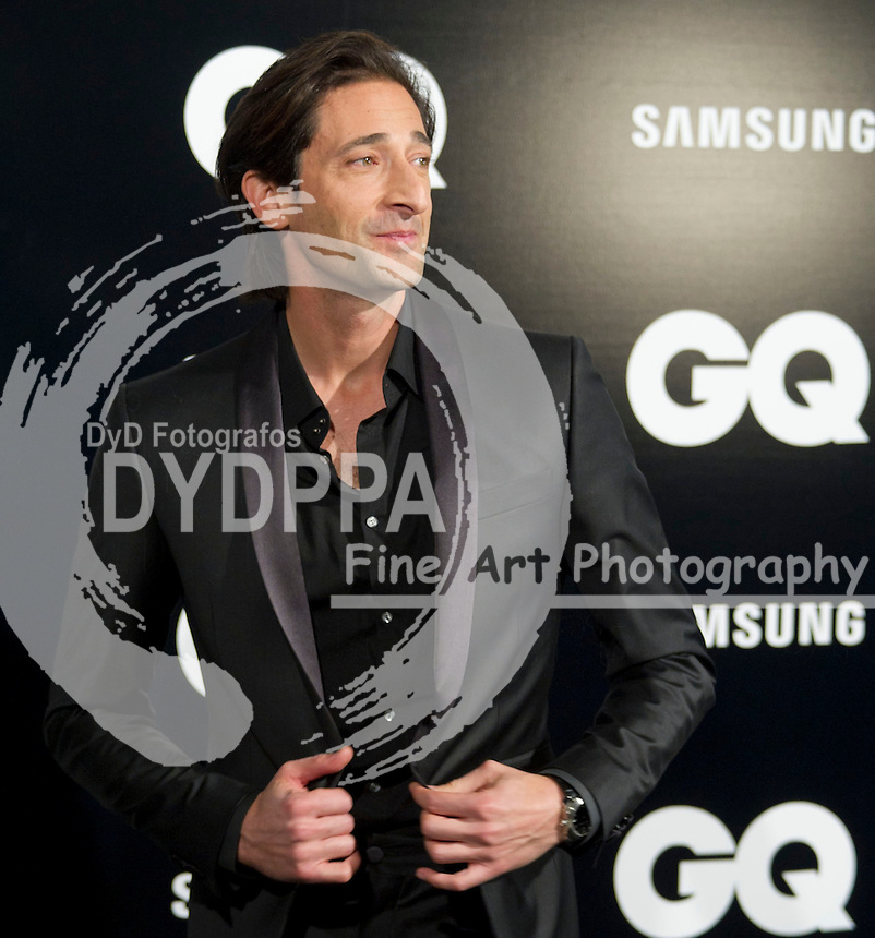19/11/2012. Palace Hotel. Madrid. Spain. GQ Men Of The Year Award 2012. Adrien Brody. (C) Belen Diaz / DyD Fotografos