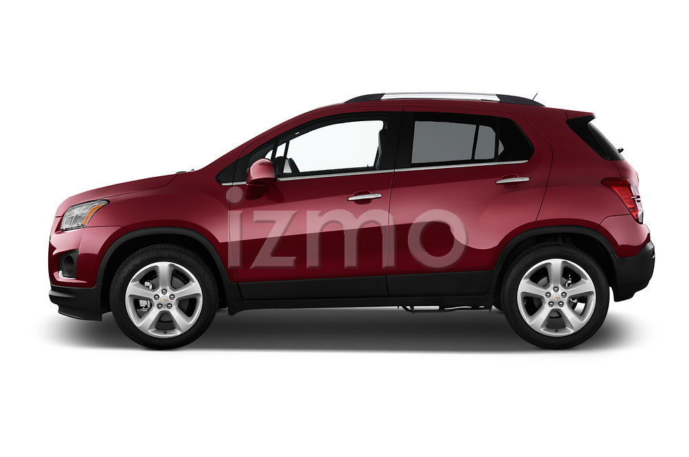 Car Driver side profile view of a 2015 Chevrolet Trax LTZ 5 Door SUV Side View