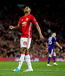 Marcus Rashford of Manchester United looks dejected during the UEFA Europa League Quarter Final 2nd Leg match at Old Trafford, Manchester. Picture date: April 20th, 2017. Pic credit should read: Matt McNulty/Sportimage