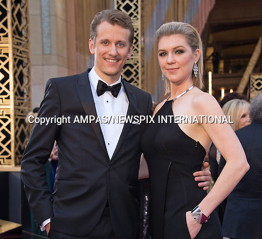 28.02.2016; Hollywood, California: 88th OSCARS - COURTNEY MARSH and JERRY FRANCK<br /> attend the 88th Annual Academy Awards at the Dolby Theatre&reg; at Hollywood &amp; Highland Center&reg;, Los Angeles.<br /> Mandatory Photo Credit: &copy;Ampas/Newspix International<br /> <br /> PHOTO CREDIT MANDATORY!!: NEWSPIX INTERNATIONAL(Failure to credit will incur a surcharge of 100% of reproduction fees)<br /> <br /> IMMEDIATE CONFIRMATION OF USAGE REQUIRED:<br /> Newspix International, 31 Chinnery Hill, Bishop's Stortford, ENGLAND CM23 3PS<br /> Tel:+441279 324672  ; Fax: +441279656877<br /> Mobile:  0777568 1153<br /> e-mail: info@newspixinternational.co.uk<br /> All Fees To: Newspix International
