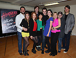 The cast and creative team attend the Meet & Greet the stars and creative team of 'Heathers The Musical' on February 19, 2014 at The Snapple Theatre Center in New York City.