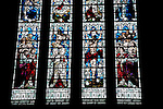 Stained Glass Window in Kirkwall Cathedral in the Orkney Islands, Scotland