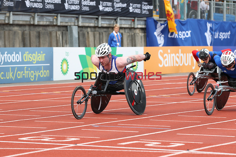 IPC European Athletics Championship 2014<br /> Mickey Bushell GBR<br /> Men's 100m T53<br /> Swansea University<br /> 20.08.14<br /> &copy;Steve Pope-SPORTINGWALES