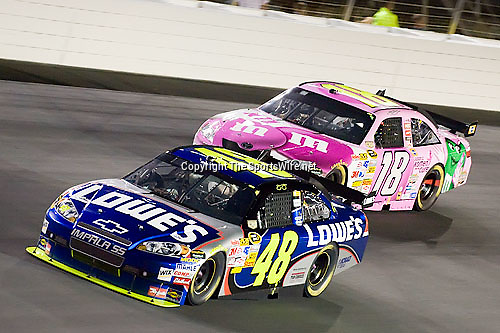 Oct 11, 2008; 7:55:05 PM;  Concord, NC, USA; Nascar Sprint Cup Series for the Bank of America 500  at Lowe's Motor Speedway. Mandatory Credit: Joey Millard