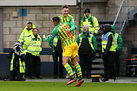 Dara O'Shea of West Bromwich Albion is congratulated after scoring the second goal during Millwall vs West Bromwich Albion, Sky Bet EFL Championship Football at The Den on 9th February 2020