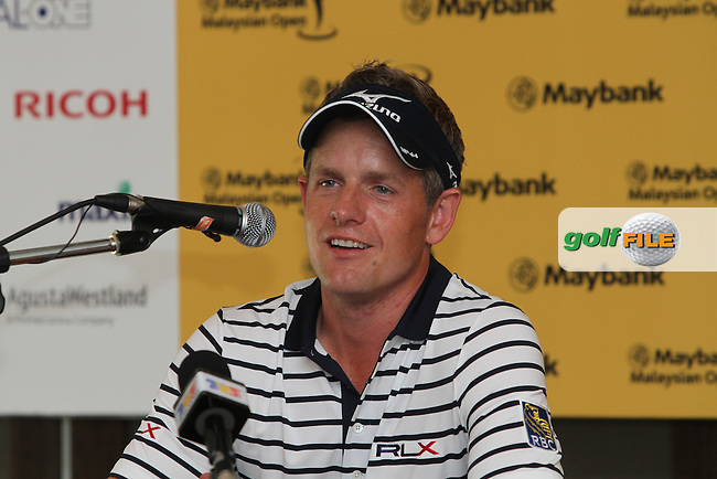Luke Donald (ENG) in the Interview Room on Tuesday's Practice Day of the 2013 Maybank Malaysian Open, Kuala Lumpur Golf and Country Club, Kuala Lumpur, Malaysia 18/3/13...(Photo Jenny Matthews/www.golffile.ie)