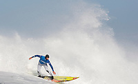 Peter Mel, right, rides a wave during the Mavericks Surf Contest in Half Moon Bay, Calif., Saturday, January 12, 2008.