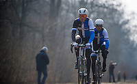 Paris-Roubaix 2013 RECON at Bois de Wallers-Arenberg..Lars Boom (NLD)